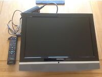 """Grundig 19"""" TV Television HD portable DVD faulty, tv fine and has USB port includes remote"""