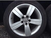 Audi A4 alloy wheels with new tyres