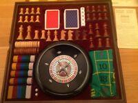 Wooden compendium of games set