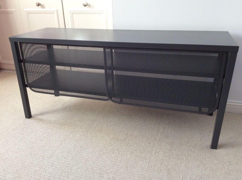 TV Cabinet IKEA Nittrop Grey Metal