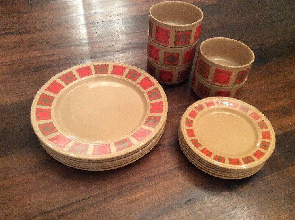 Retro Dinner Plates u0026 Bowls & Retro Dinner Plates u0026 Bowls | in Epsom Surrey | Gumtree