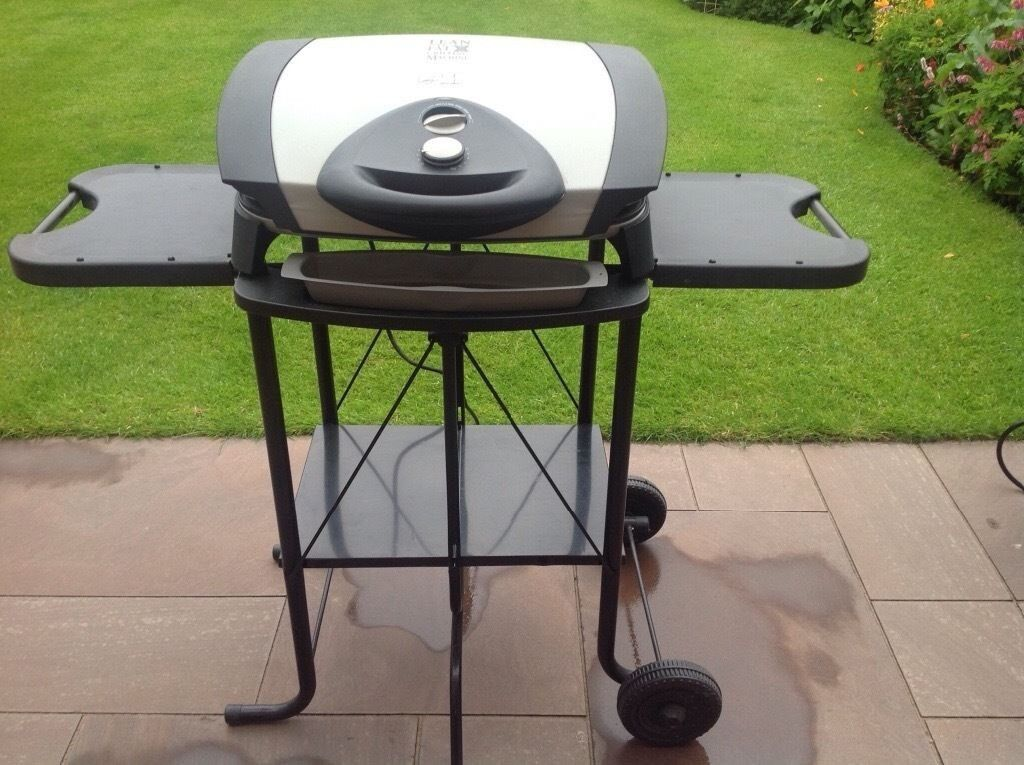 George Foreman Electric BBQ Grill With Foldable Stand Indoor Or Outdoor