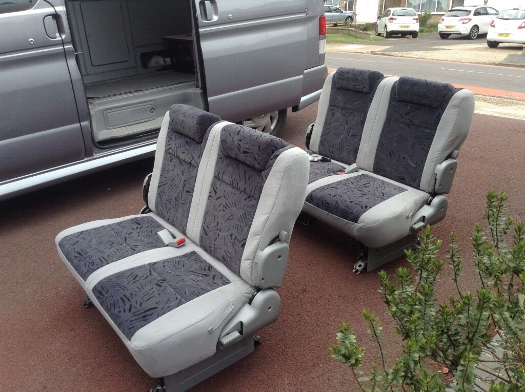 Mazda Bongo Campervan Seats  Middle And Rear, Grey Velour
