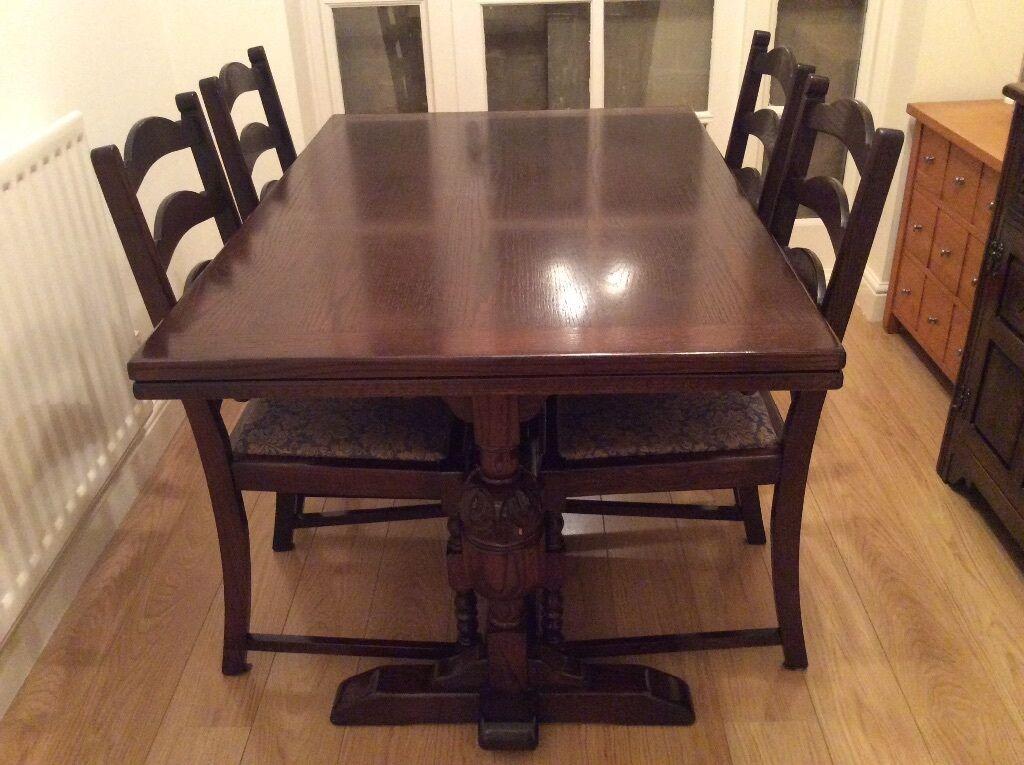 Jaycee Dark Oak Dining Table and Six Chairs & Jaycee Dark Oak Dining Table and Six Chairs | in Newcastle Tyne and ...