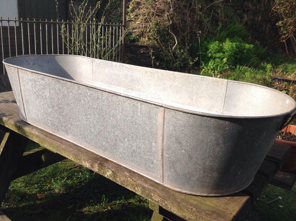 Charmant Galvanised Tin Bath Garden Design Ideas
