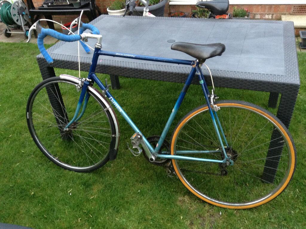 Large Vintage Dawes Lightning Racing/Road Bike Bicycle 26  Inch Frame Blue & Large Vintage Dawes Lightning Racing/Road Bike Bicycle 26