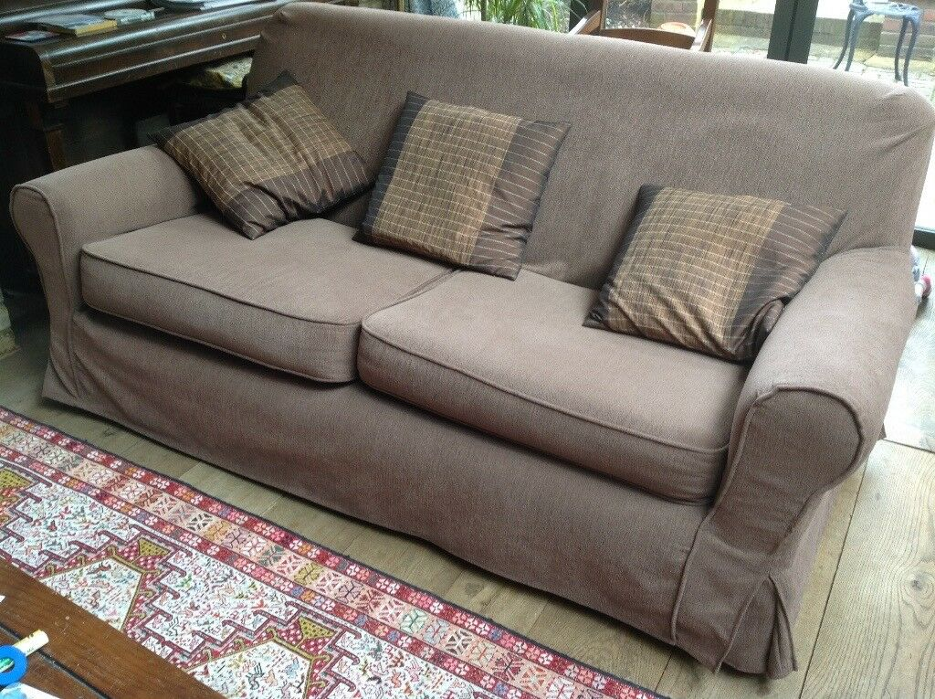 Sturdy Sofa And Armchair With Made To Measure Loose Covers Cushions  Included Sofa 190 X 100