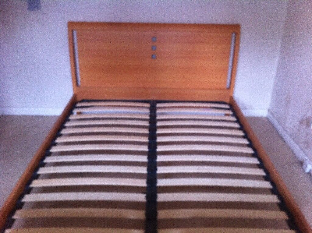 King Size Bed In Pale Wood With Mackintosh Style Features. VGC Dismantled  And Ready To Pick Up. | In Southside, Glasgow | Gumtree