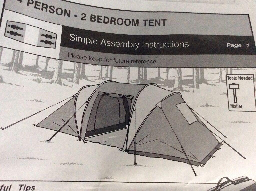 4 person 2 bedroom tent & 4 person 2 bedroom tent | in Bournemouth Dorset | Gumtree