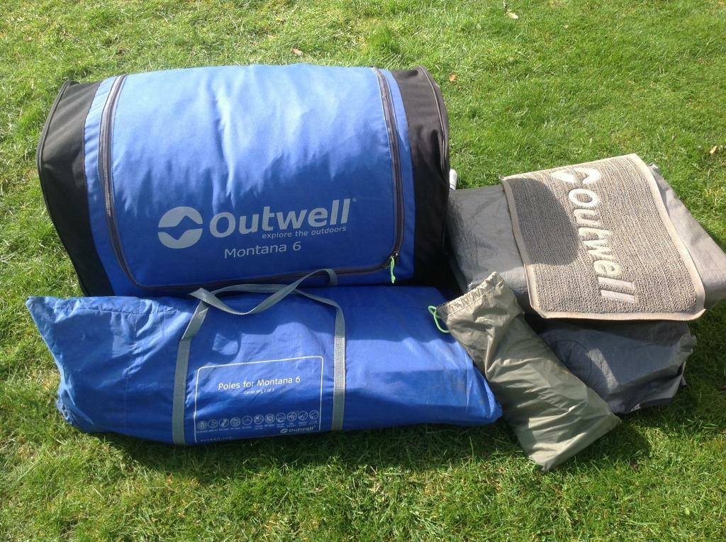 OUTWELL MONTANA 6 MAN TENT WITH FOOTPRINT & OUTWELL MONTANA 6 MAN TENT WITH FOOTPRINT | in Haddington East ...