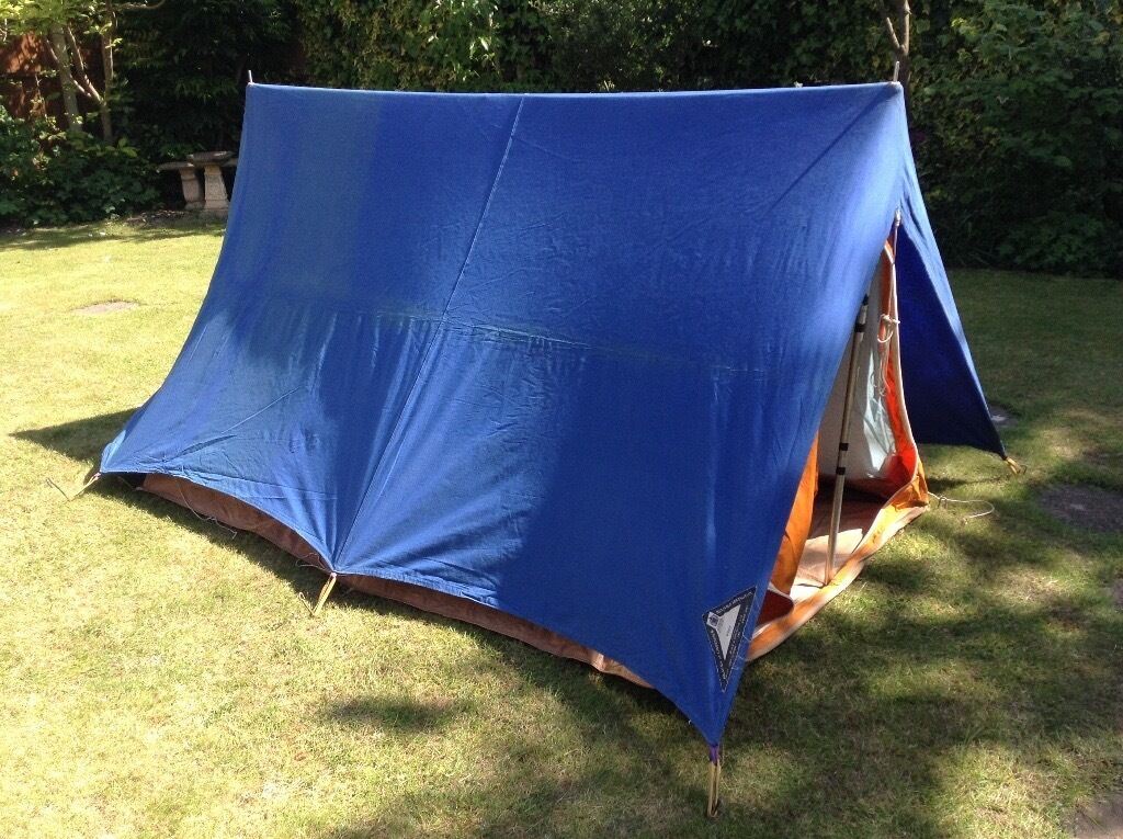 Small 2-man tent ridge tent with fly sheet and sewn in ground sheet & Small 2-man tent ridge tent with fly sheet and sewn in ground ...
