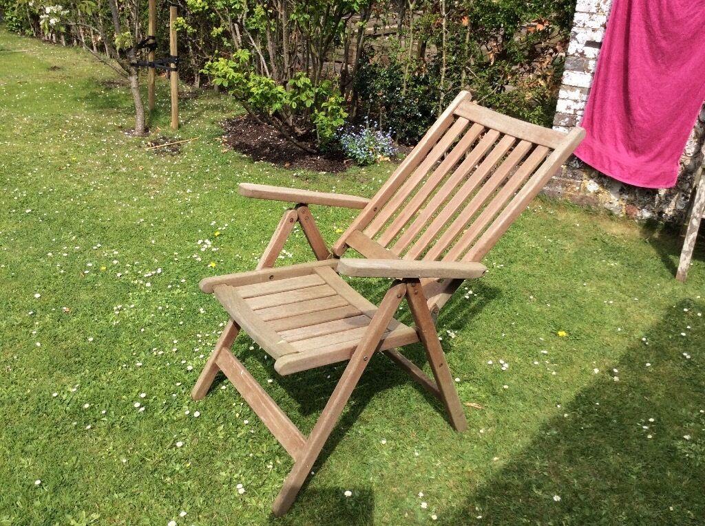 Hardwood reclining garden chair. & Hardwood reclining garden chair.   in Lewes East Sussex   Gumtree islam-shia.org