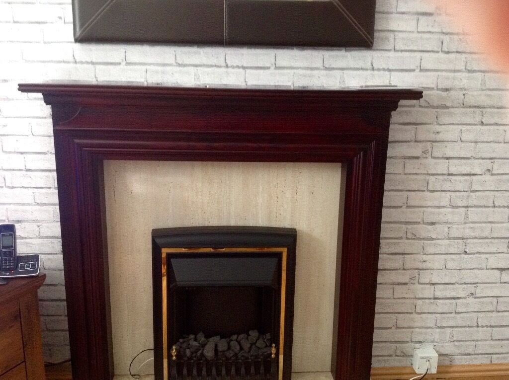 Electric Fire And Surround Part - 47: Electric Fire With Surround ( No Hearth )