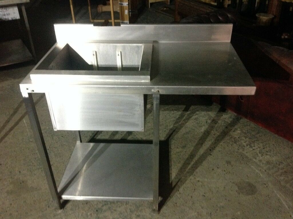 Commercial Kitchen Sink X 2 And Large Worktop Prep Station, Good Condition  £160 Ono