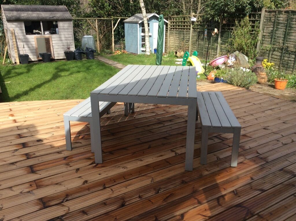 IKEA Falster Outdoor Table And Two Benches