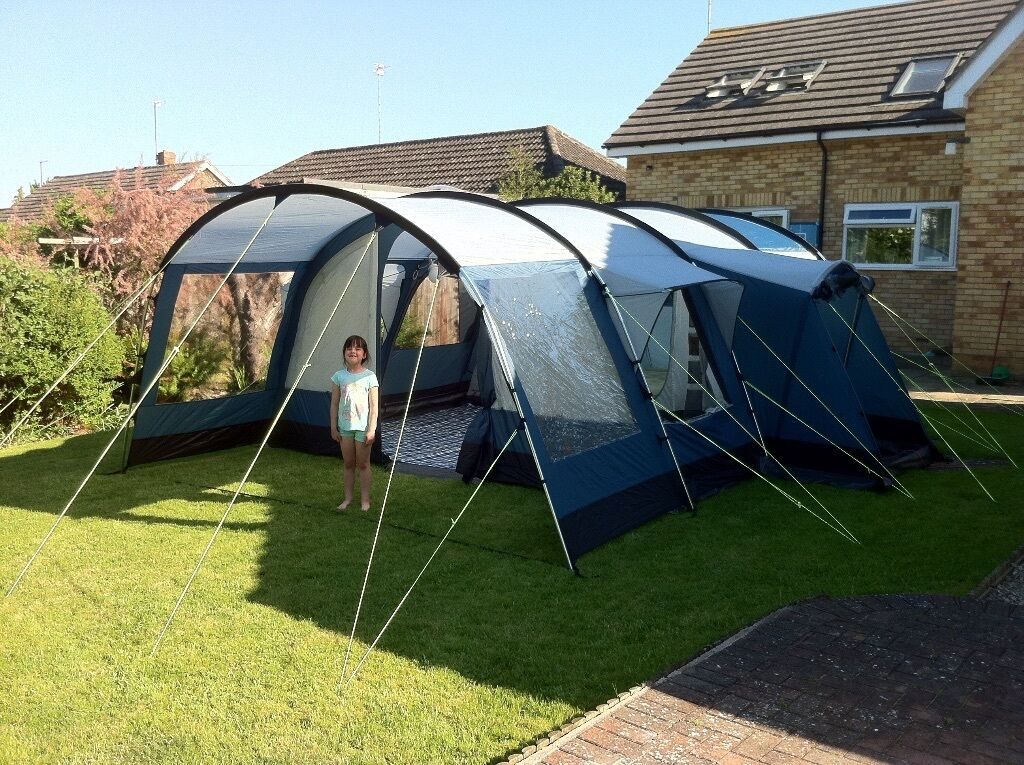 Royal Cuban 6 ZG - 6 Berth Family Tunnel Tent with Groundsheet Carpet u0026 Double : 6 berth tents - memphite.com