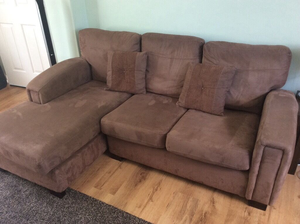 Brown Faux Suede Sofa  3 Seat And 2 Seat!