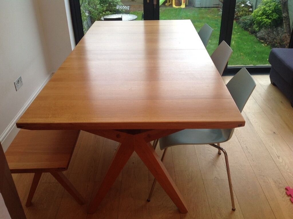 Delightful John Lewis U0027Noahu0027 Extending Dining Table PLUS Matching Bench PLUS Chairs  For Sale