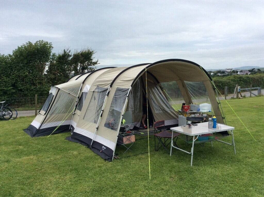 Outwell Montana Lake Polycotton Tent front extension and carpet worth over £1000 & Outwell Montana Lake Polycotton Tent front extension and carpet ...