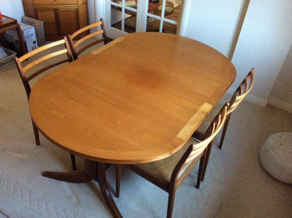 Nathan Teak dining table and four chairs. & Nathan Teak dining table and four chairs. | in Hedge End Hampshire ...