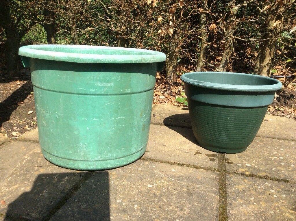 Large Green Plastic Garden Pots