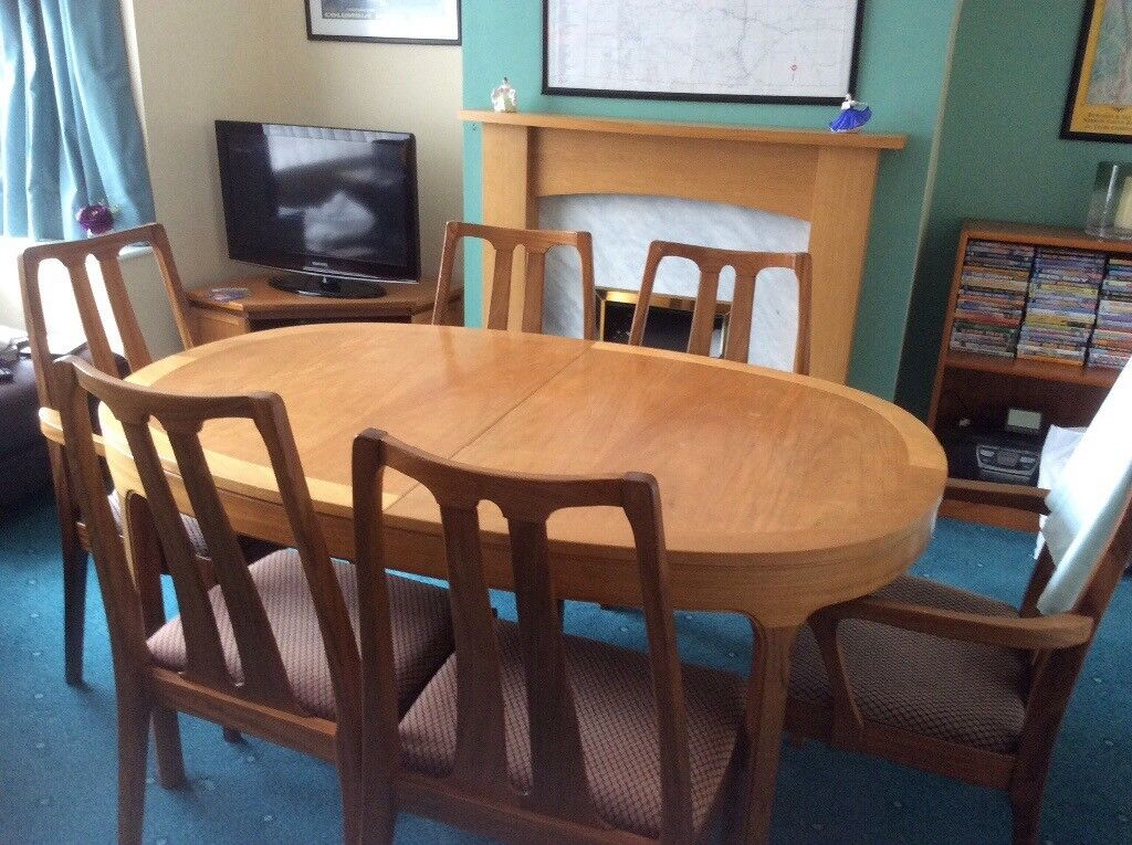 Nathan teak dining table and 6 chairs excellent condition. & Nathan teak dining table and 6 chairs excellent condition. | in ...