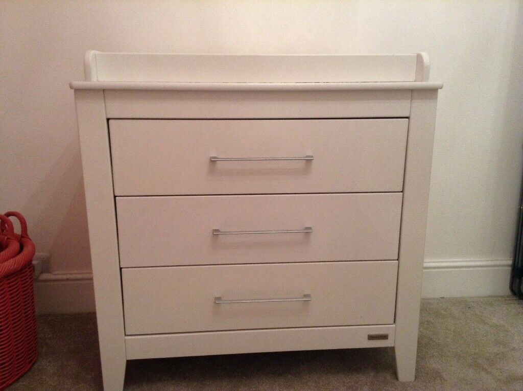 Mama And Papas Cot Bed And Changing Unit Ivory £100