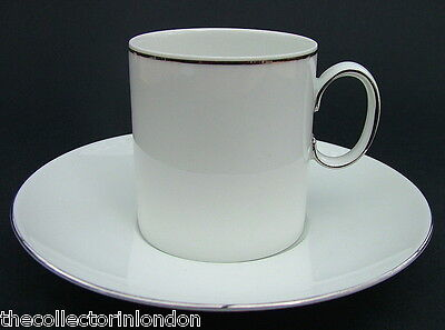 Thomas Medallion 745 Pattern Thin Platinum Line Coffee Cups & Saucers in VGC