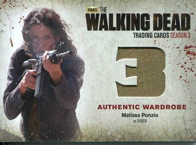 The Walking Dead Season 3 Part 1 Wardrobe Card M50 Melissa Ponzio Karen