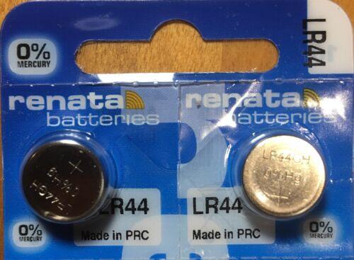 2-Renata LR44 Batteries, Ships from USA, Alkaline A76 357 AG