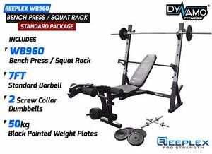 Bench Press / Squat Rack Bar Weights Home Gym Package NEW Malaga Swan Area Preview