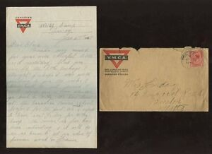 CANADA-WW1-ARMY-1918-LETTER-CAMP-SEAFORD-NEW-BRUNSWICK-SOLDIER-YMCA-LETTERPAPER