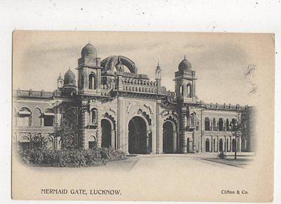 Mermaid Gate Lucknow India Vintage U/B Postcard 854a