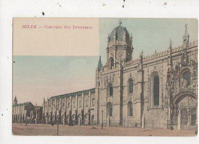 Belem Convento Dos Jeronymos Portugal Vintage U/B Postcard 912a