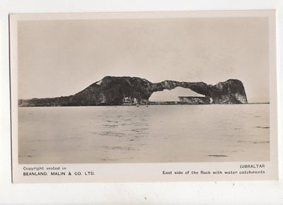 Gibraltar East Side Of Rock With Water Catchments RP Postcard Beanland 200b