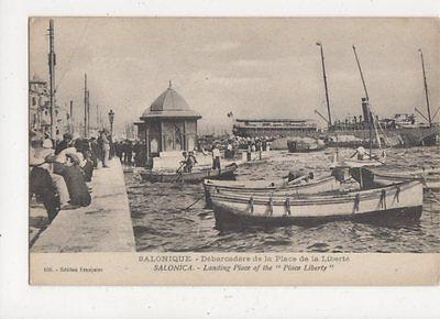 Salonica Landing Place Liberty Vintage Postcard 640a