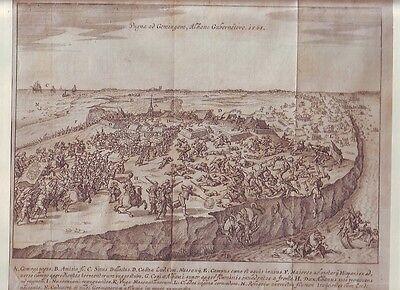 Kupferstich  ca. 1580 Schlacht bei Jemgum    1568
