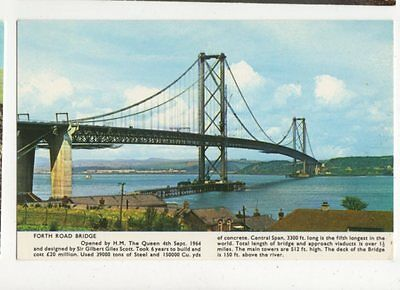 Forth Road Bridge Old Postcard 359a
