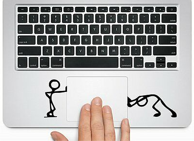 Pushing Standing Silhouette for Macbook Trackpad laptop Chromebook Decal Sticker