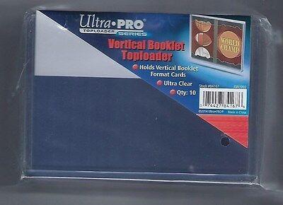 (10) Ultra Pro Vertical Booklet Card Toploaders