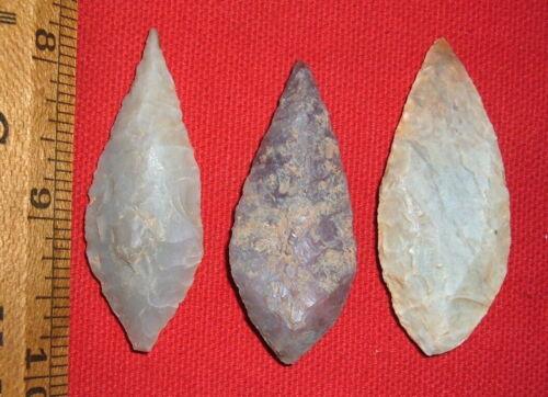 "(3) Big (2""+) Choice Sahara Neolithic Blades, Prehistoric African Artifacts"