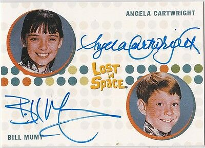 THE COMPLETE LOST IN SPACE BILL MUMY ANGELA CARTWRIGHT DUAL AUTOGRAPH RARE VHTF