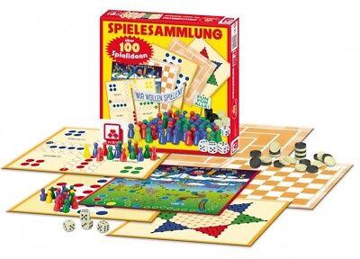 Spielesammlung 100 Spielmöglichkeiten Familienspiel Brettspiel Mühle Dame Halma (Familienspiele, Brettspiele)