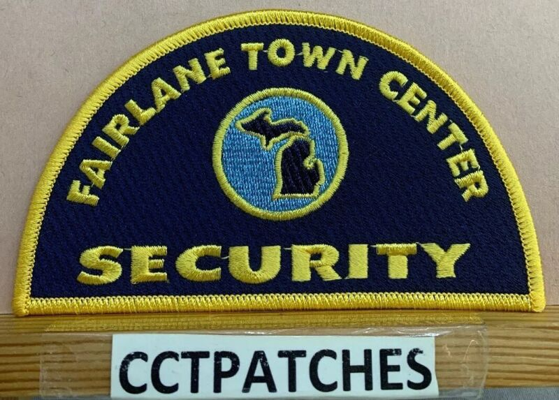 FAIRLANE TOWN CENTER SECURITY MICHIGAN (POLICE) SHOULDER PATCH MI