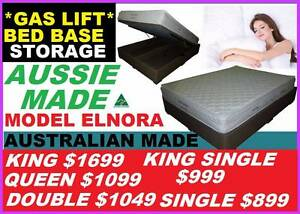 New Bed With Gas Lift Storage Australian Made All Sizes. Ipswich Region Preview