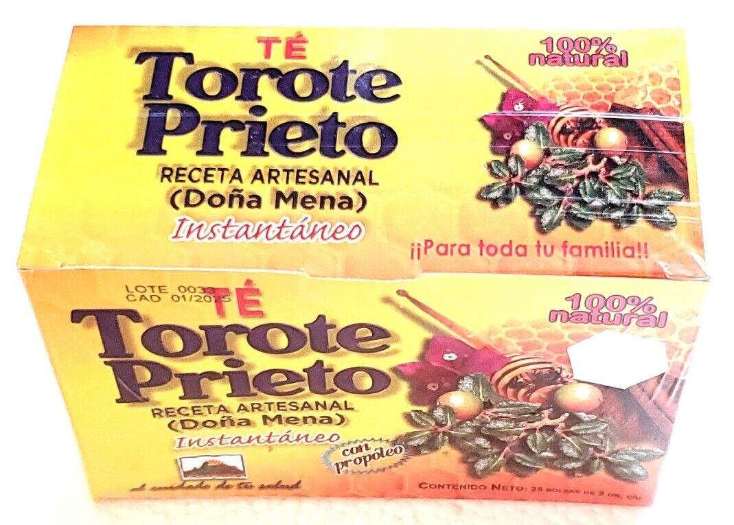 Te Torote Prieto Instantaneo 25 sobres 2gr c/u 100% Natural Receta Artesanal