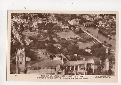 Kings Arms Hotel Castle Street Christchurch Aerial View RP Postcard 645b