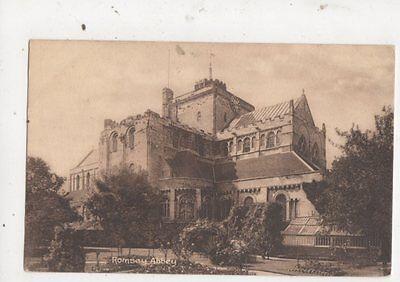 Romsey Abbey Vintage Postcard AE Parsons 632a
