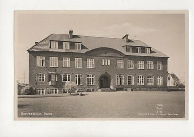 Samrealskolan Svalov Sweden RP Postcard 178b