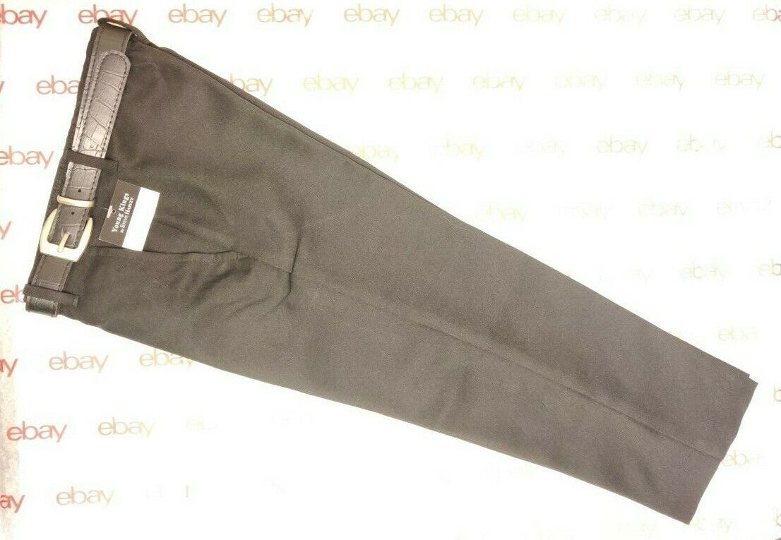 Young kings Boys Kids Dress Black Suit Pants W/ Belt Size 5 REGULAR